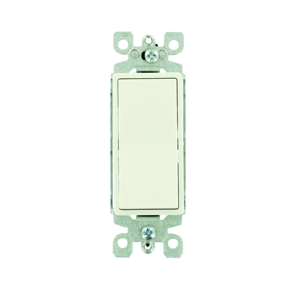 Interruptor sencillo decorativo 15A, 120-277V, 3 way, light almond, UL
